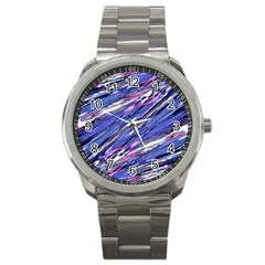 Abstract Collage Print Sport Metal Watch by dflcprints