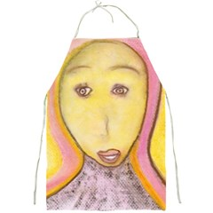 Portrait Of Archangel Michael, Spiritual Chalks Drawing Full Print Aprons by yoursparklingshop