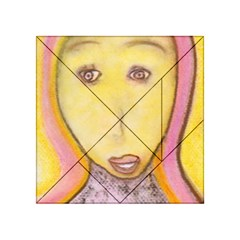 Portrait Of Archangel Michael, Spiritual Chalks Drawing Acrylic Tangram Puzzle (4  X 4 ) by yoursparklingshop