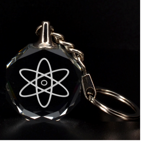 Engraved Nuclear Atom Key Chain By Rd   3d Engraving Circle Key Chain   Eqn8vyj1ps82   Www Artscow Com Front