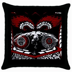 Winged Angel Black Throw Pillow Case by DryInk