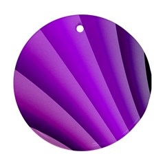 Gentle Folds Of Purple Ornament (round)  by FunWithFibro