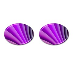 Gentle Folds Of Purple Cufflinks (oval) by FunWithFibro