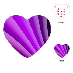 Gentle Folds Of Purple Playing Cards (heart)  by FunWithFibro