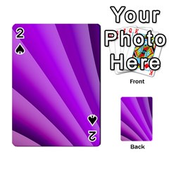 Gentle Folds Of Purple Playing Cards 54 Designs
