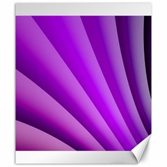 Gentle Folds Of Purple Canvas 20  X 24   by FunWithFibro