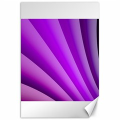 Gentle Folds Of Purple Canvas 20  X 30   by FunWithFibro