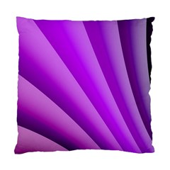 Gentle Folds Of Purple Standard Cushion Case (two Sides) by FunWithFibro