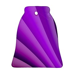 Gentle Folds Of Purple Ornament (bell)  by FunWithFibro