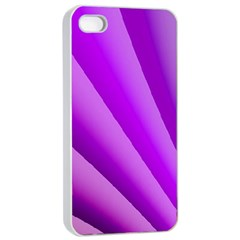 Gentle Folds Of Purple Apple Iphone 4/4s Seamless Case (white) by FunWithFibro