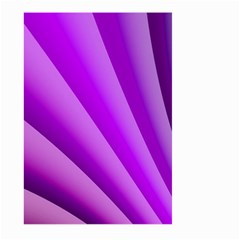 Gentle Folds Of Purple Large Garden Flag (two Sides) by FunWithFibro