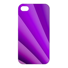 Gentle Folds Of Purple Apple Iphone 4/4s Premium Hardshell Case by FunWithFibro