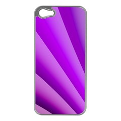 Gentle Folds Of Purple Apple Iphone 5 Case (silver) by FunWithFibro