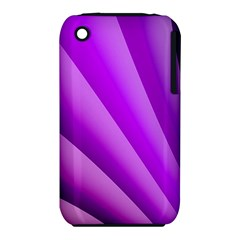 Gentle Folds Of Purple Apple Iphone 3g/3gs Hardshell Case (pc+silicone) by FunWithFibro