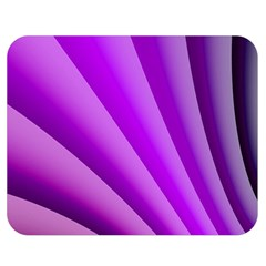 Gentle Folds Of Purple Double Sided Flano Blanket (medium)  by FunWithFibro