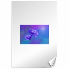 Purple Cornflower Floral  Canvas 20  X 30   by yoursparklingshop