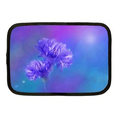 Purple Cornflower Floral  Netbook Case (medium)  by yoursparklingshop
