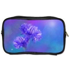 Purple Cornflower Floral  Toiletries Bags 2 Side by yoursparklingshop
