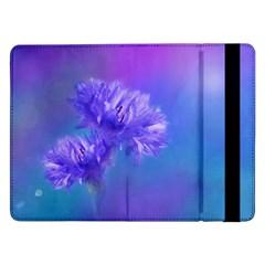 Purple Cornflower Floral  Samsung Galaxy Tab Pro 12 2  Flip Case by yoursparklingshop