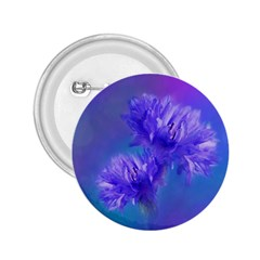 Flowers Cornflower Floral Chic Stylish Purple  2 25  Buttons by yoursparklingshop