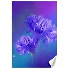 Flowers Cornflower Floral Chic Stylish Purple  Canvas 24  X 36  by yoursparklingshop
