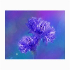 Flowers Cornflower Floral Chic Stylish Purple  Small Glasses Cloth (2 Side) by yoursparklingshop