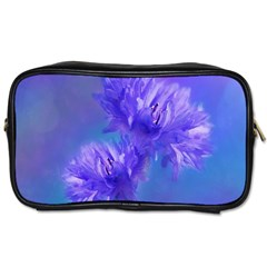 Flowers Cornflower Floral Chic Stylish Purple  Toiletries Bags 2 Side by yoursparklingshop