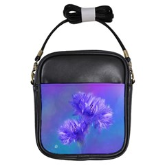 Flowers Cornflower Floral Chic Stylish Purple  Girls Sling Bags