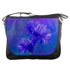 Flowers Cornflower Floral Chic Stylish Purple  Messenger Bags by yoursparklingshop