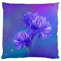 Flowers Cornflower Floral Chic Stylish Purple  Large Cushion Case (one Side) by yoursparklingshop