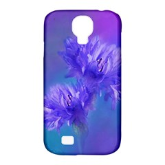 Flowers Cornflower Floral Chic Stylish Purple  Samsung Galaxy S4 Classic Hardshell Case (pc+silicone) by yoursparklingshop