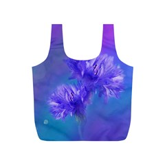 Flowers Cornflower Floral Chic Stylish Purple  Full Print Recycle Bags (s)  by yoursparklingshop