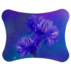 Flowers Cornflower Floral Chic Stylish Purple  Jigsaw Puzzle Photo Stand (bow) by yoursparklingshop