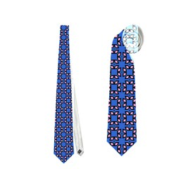 Alvilde Othelie Blue Pink Black Pattern  Neckties (two Side)  by CircusValleyMall