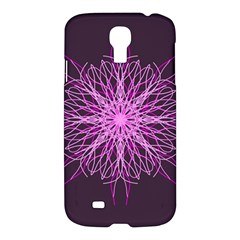 Pink Kaleidoscope Flower Mandala Art Samsung Galaxy S4 I9500/i9505 Hardshell Case by yoursparklingshop
