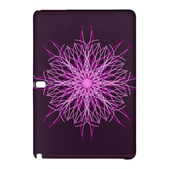 Pink Kaleidoscope Flower Mandala Art Samsung Galaxy Tab Pro 12 2 Hardshell Case by yoursparklingshop
