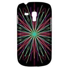 Pink Turquoise Black Star Kaleidoscope Flower Mandala Art Samsung Galaxy S3 Mini I8190 Hardshell Case by yoursparklingshop