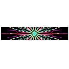 Pink Turquoise Black Star Kaleidoscope Flower Mandala Art Flano Scarf (large) by yoursparklingshop