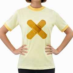 Bandages Women s Fitted Ringer T Shirts by onedot