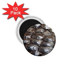 Festive Silver Metallic Abstract Art 1 75  Magnets (10 Pack)  by yoursparklingshop