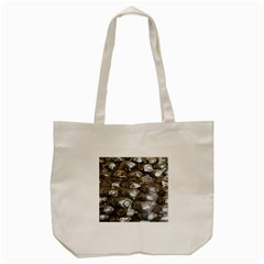 Festive Silver Metallic Abstract Art Tote Bag (cream) by yoursparklingshop