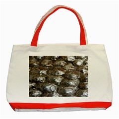 Festive Silver Metallic Abstract Art Classic Tote Bag (red) by yoursparklingshop