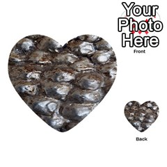 Festive Silver Metallic Abstract Art Multi Purpose Cards (heart)