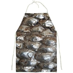Festive Silver Metallic Abstract Art Full Print Aprons by yoursparklingshop