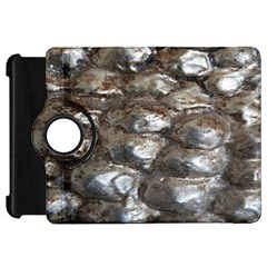 Festive Silver Metallic Abstract Art Kindle Fire Hd Flip 360 Case by yoursparklingshop