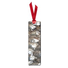 Festive Silver Metallic Abstract Art Small Book Marks by yoursparklingshop