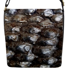 Festive Silver Metallic Abstract Art Flap Messenger Bag (s) by yoursparklingshop
