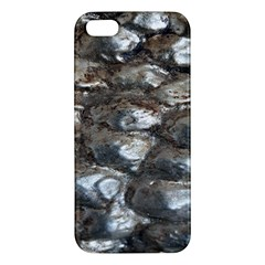 Festive Silver Metallic Abstract Art Iphone 5s/ Se Premium Hardshell Case by yoursparklingshop