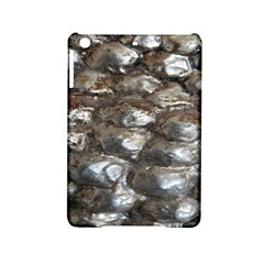 Festive Silver Metallic Abstract Art Ipad Mini 2 Hardshell Cases by yoursparklingshop