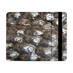 Festive Silver Metallic Abstract Art Samsung Galaxy Tab Pro 8 4  Flip Case by yoursparklingshop